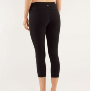 Lululemon Wunder Under Crop Black Coal Leggings